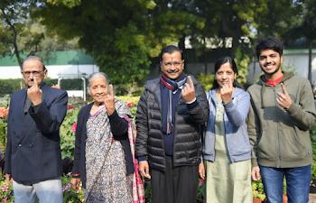 CM Arvind Kejriwal after voting  hopeful for 3rd time