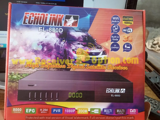 ECHOLINK EL-880D 1506LV 1G 8M BUILT IN WIFI NEW SOFTWARE WITH DOBLY AUDIO OK 02 MARCH 2021