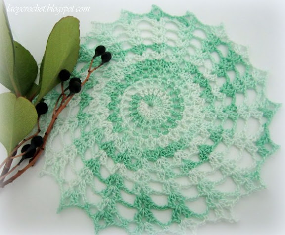 lacy crochet small doily
