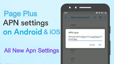 Page Plus Cellular APN Settings 2020 full Guide Step by Step