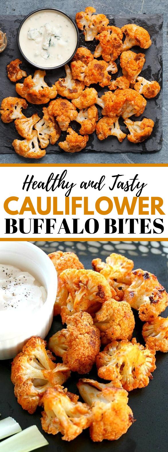 CAULIFLOWER BUFFALO BITES #healthydiet #appetizers