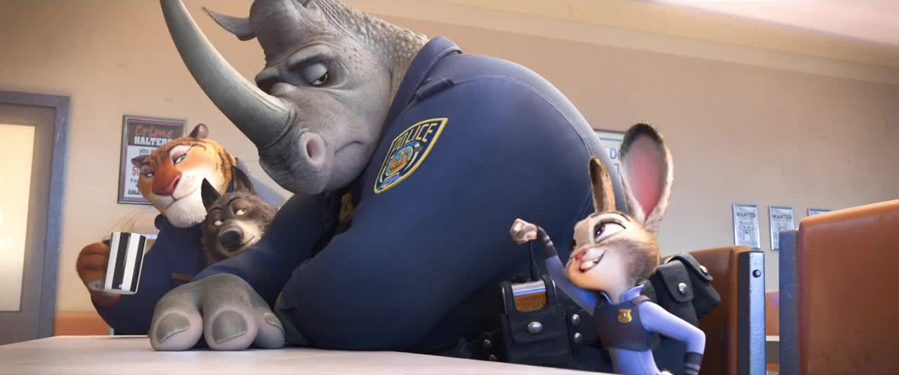 Judy Hops offers her officers a fist bump
