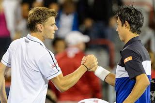 David Goffin y Kei Nishikori resultados del tenis