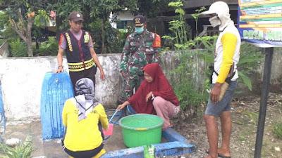 Tripal Desa Paria di Pinrang Lakukan Penyemprotan Disnifektan di Tempat Ibadah