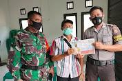 Polisi dan TNI Bertemu Warga Kempanyekan Pencegahan Virus Corona