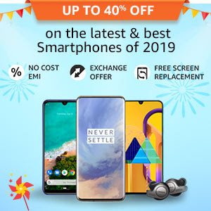 Up to 40% off on the latest & best Smartphones of 2019