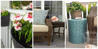 A few changes make a big difference in my patio! See them all (with sources) at diy beautify!