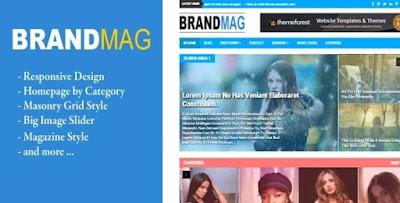 Brand Mag Responsive Blogger Template tin tức của năm 2016