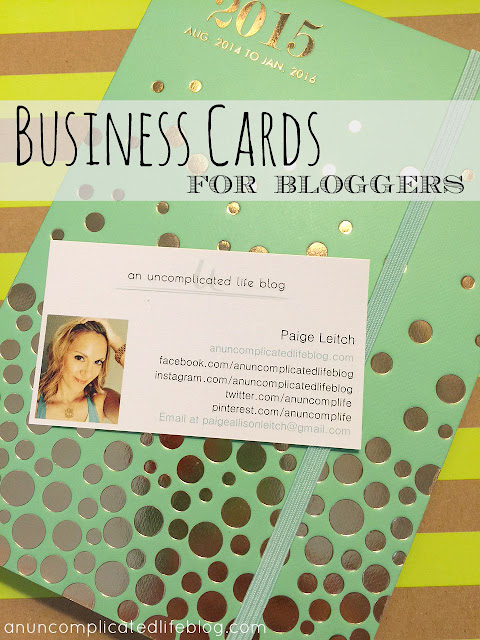 Blogger business cards are important for brands to take you seriously! They're easy and affordable to make through online printing services like vistaprint