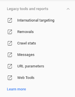 New Google search console under Legacy tools and reports features ko Jane hindi me 2019 screen shots