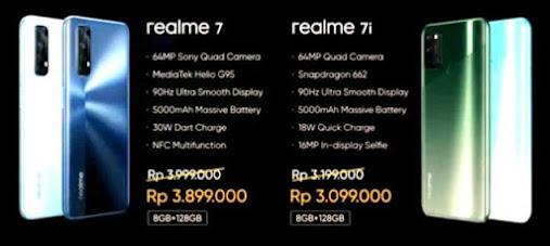 Resmi Dipasarkan di Indonesia, Berikut Spesifikasi dan Harga Realme 7 dan 7i