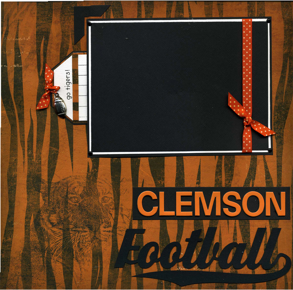12x12 premade clemson football scrapbook page