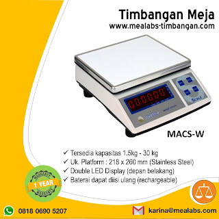 Portable weighing scale MACS-W