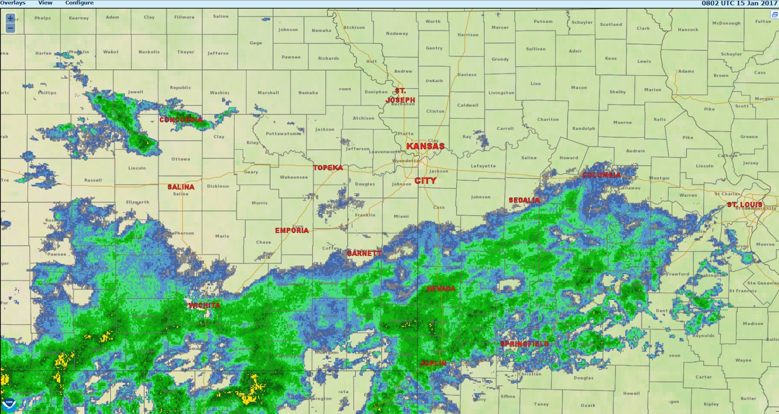 below is the regional weather radar composite shortly after 2 am sunday morning