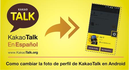 Como cambiar la foto de perfil de KakaoTalk en Android