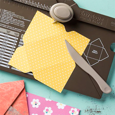 Envelope punch board from Stampin' Up!