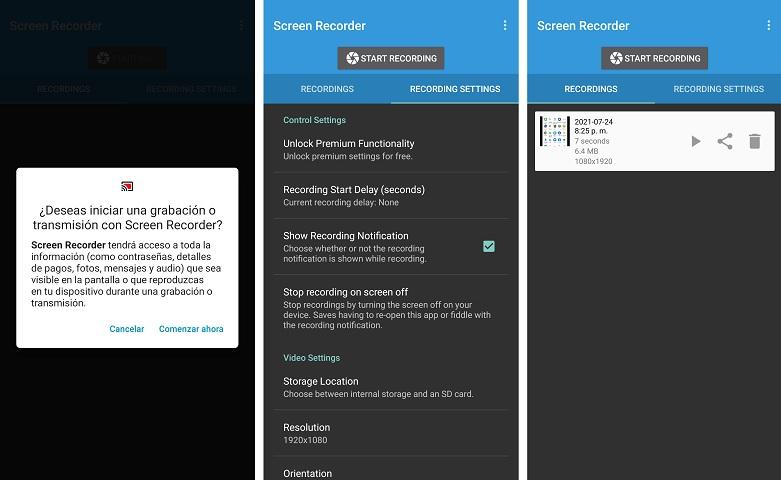Mejores APLICACIONES para GRABAR la PANTALLA en Android