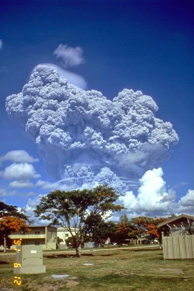 Letusan Gunung Pinatubo, letusan vulkanik