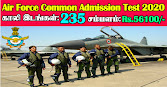 Indian Air Force Recruitment 2020 235 AFCAT 01/2021 Posts