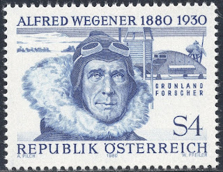 Austria 1980 - Alfred Wegener - German Polar Researcher