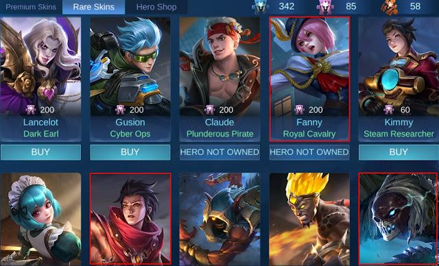 Mobile Legends Update Rare Skins Terbaru Patch Update 1.4.60 Maret 2020
