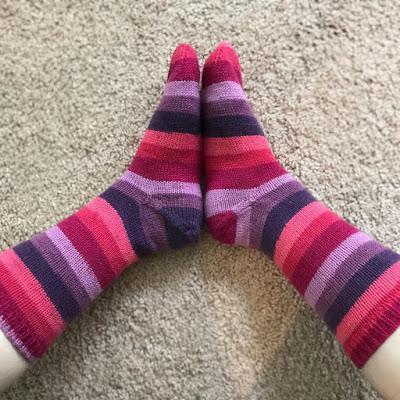 Striped socks - knit picks felici.