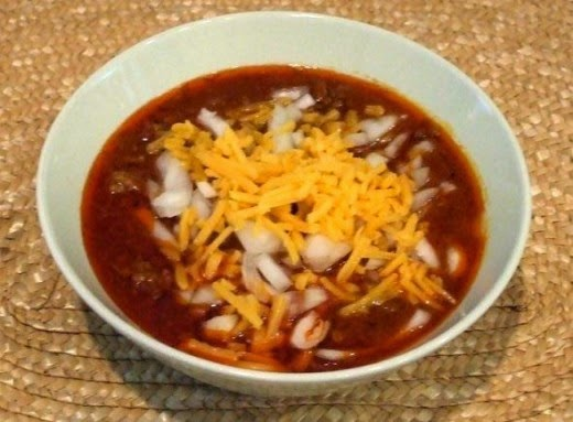 my award-winning chili in a bowl