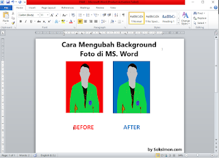 Cara Mengganti Background Foto dengan Microsoft Word