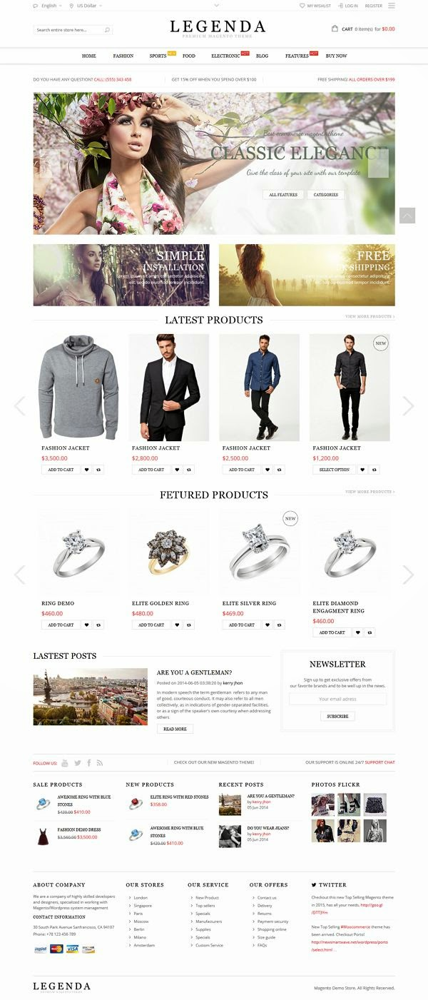 Best Fluid Responsive Magento Theme