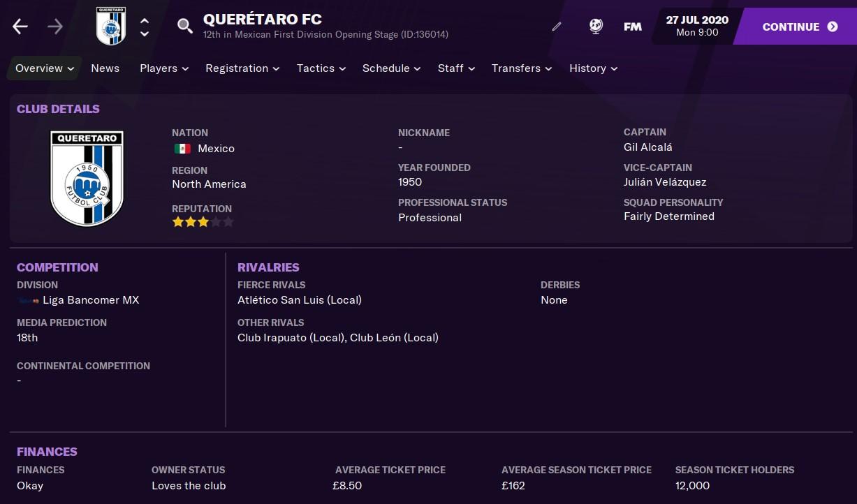 Queretaro Football Manager 2021 FM21