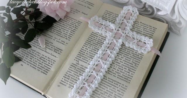 Lacy Crochet Crochet Cross Bookmark Free Vintage Pattern