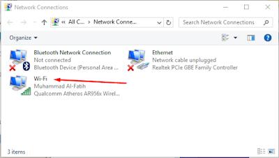 Ubah properties koneksi WiFi