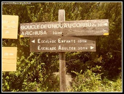 Escalada en A Richiusa, Córcega