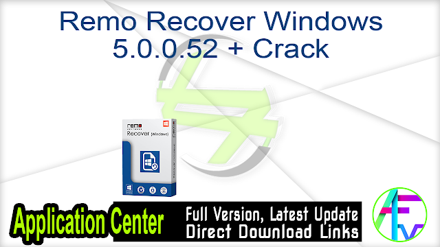 Remo Recover Windows 5.0.0.52 + Crack