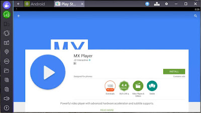 mx player for pc on bluestack
