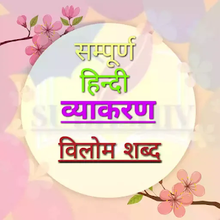 हिन्दी विलोम शब्द/ विपरीतार्थक शब्द  परिभाषा  भेद और उदाहरण । Vilom Shabd In Hindi