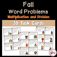 Fall Multiplication and Division Word Problems