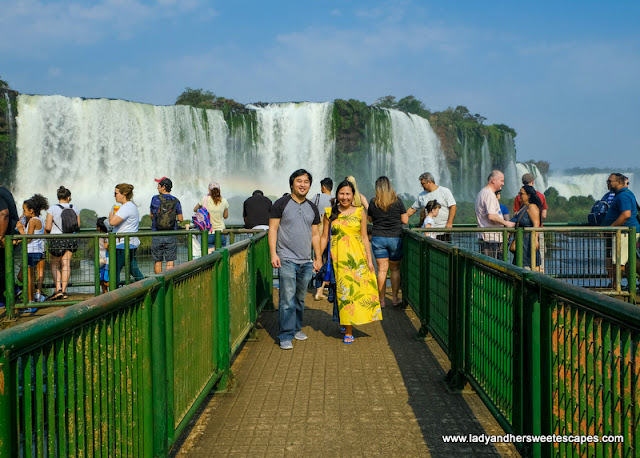 Ed and Lady in Brazil Iguazu Falls