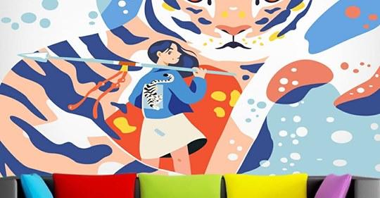 Toko Wallpaper Di Karawaci Produk Wallpaper Ini Untuk Menggantikan Cat Dinding Rumah