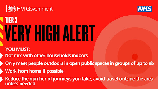 Tier 3 VERY HIGH ALERT UK Government tiers Dec 2020