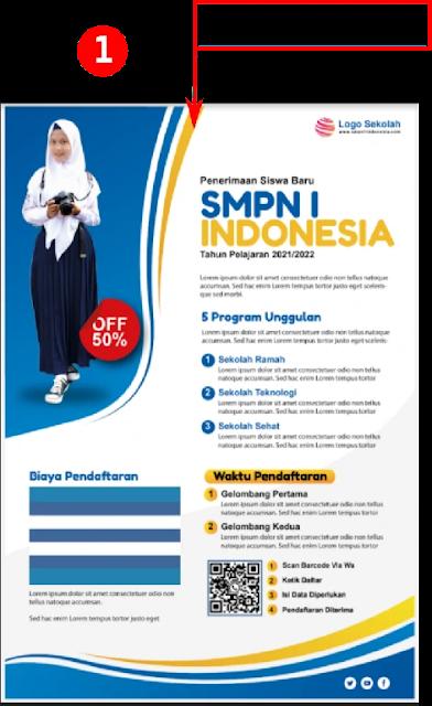 Free File : Download Contoh Brosur PPDB Penerimaan siswa Baru SMP Gratis