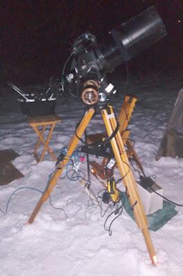 telescope-camera setup for Sirius