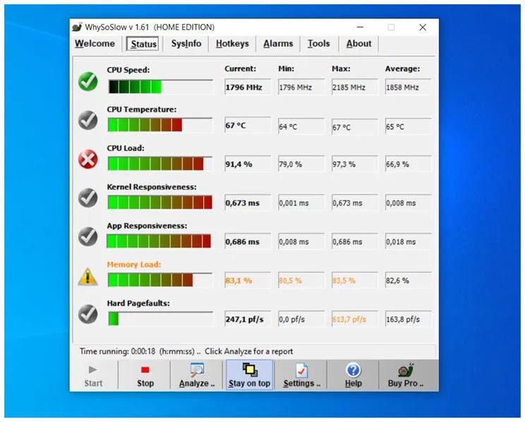 WhySoSlow : Εντοπίστε πιθανά προβλήματα  στη λειτουργία του υπολογιστή σας