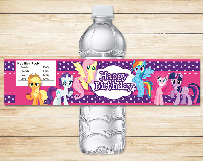Free Printable My Little Pony Water Bottle Labels ~ Free My Little Pony  Printables