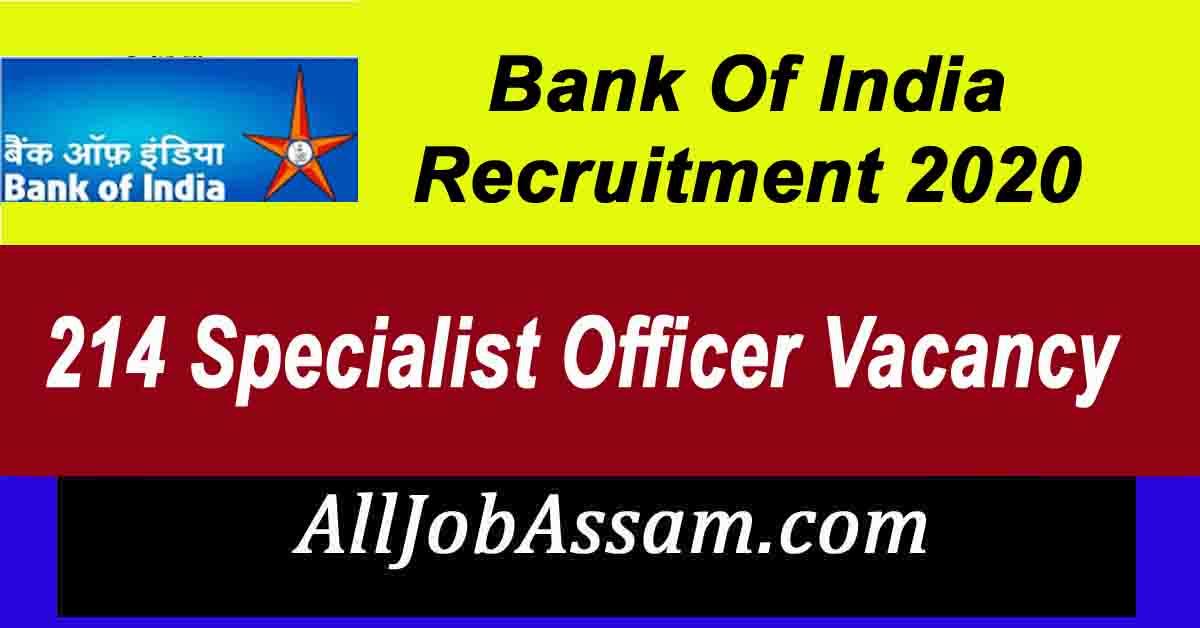 Bank Of India Recruitment 2020