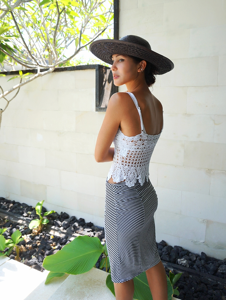 Euriental || fashion & luxury travel || Alila Villas Uluwatu, crochet top, Sportmax striped dress
