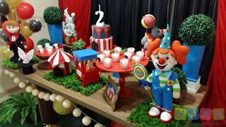 Decoraçãode festa infantil Circo