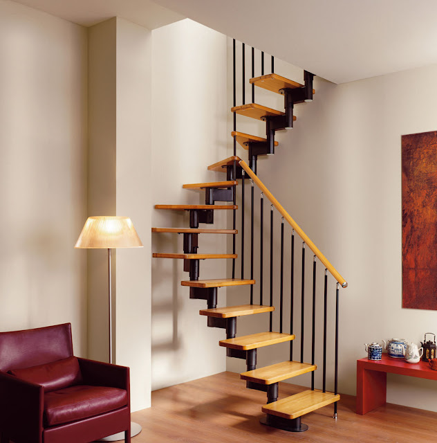 Escaleras que menos espacio ocupan espacios reducidos - Dimensiones escalera de caracol ...
