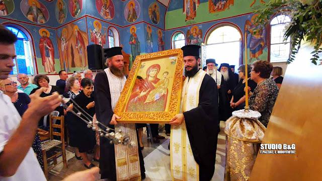 Στο Μαλαντρένι Αργολίδας γιορτάζουν την Παναγία την Μυρτιδιώτισσα (βίντεο)