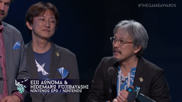 The Game Awards 2017 The Legend of Zelda: Breath of the Wild Game of the Year Eiji Aonuma Hidemaro Fujibayashi